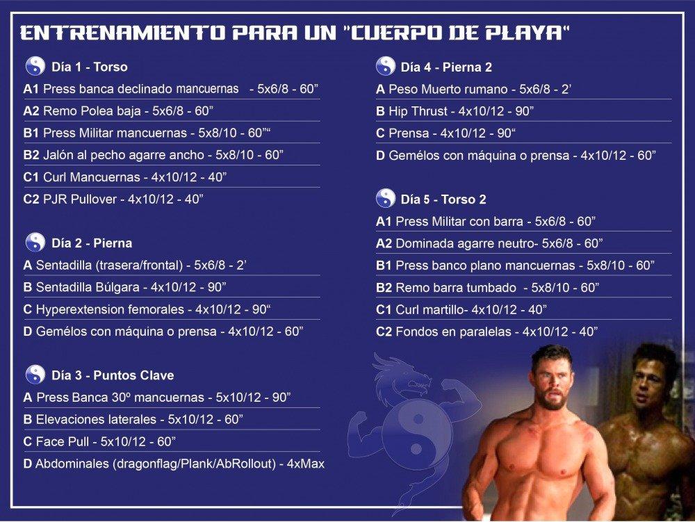 rutina Cuerpo Fitness hombre